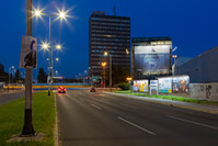Road illumination of Zagreb avenue, Zagreb/Croatia