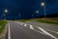 Road illumination in place Lepoglava, Zagreb/Croatia